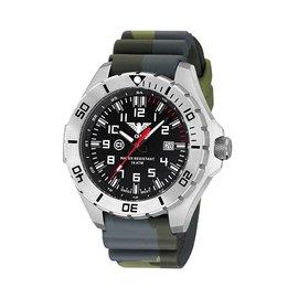 KHS Tactical Watches Landleader Steel mit Silikonband Camouflage Olive