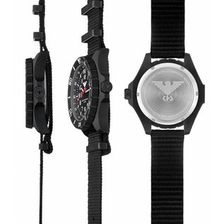 KHS Tactical Watches KHS Military men's Watch Landleader Steel with Camouflage Strap Grey