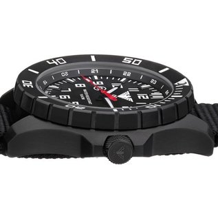 KHS Tactical Watches KHS Einsatzuhr Landleader Black Steel mit Silikonband Camouflage Oliv