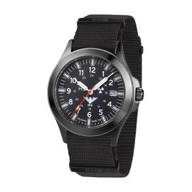 KHS Tactical Watches KHS Black Platoon Titan H3 Automatik - Natoband | KHS.BPTA.NB