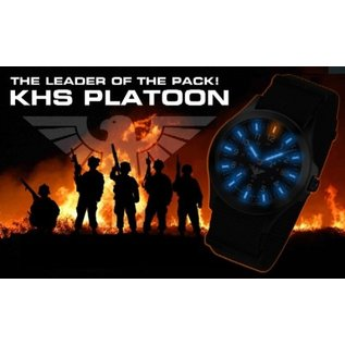 KHS Tactical Watches Black Platoon H3 Titan Einsatzuhr - Natoband Black