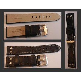 Eichmüller Uhrenarmband Lederarmband - AVIATOR | 22 mm braun
