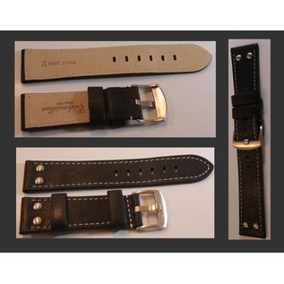 Eichmüller Genuine leather strap - AVIATOR | 22mm -brown