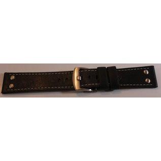 Eichmüller Uhrenarmband Echtlederarmband - AVIATOR | 22 mm braun