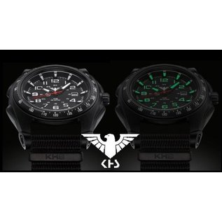 KHS Tactical Watches KHS Sentinel -A-Black with Nato Strap Oliv   KHS.SEAB.NO