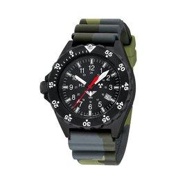 KHS Tactical Watches Uhren   Militäruhren Shooter   Diverband Camouflage Olive