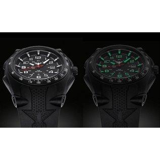 KHS Tactical Watches Sentinel A mit Silikonband Black | KHS.SEAB.S
