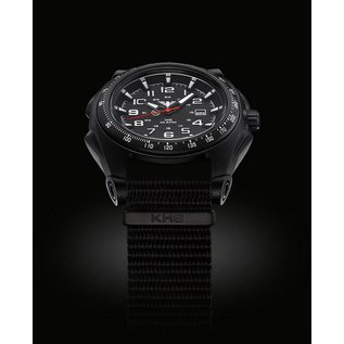 KHS Tactical Watches Sentinel -A-Black with Strap Black | KHS.SEAB.NB