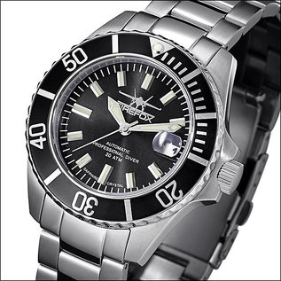 Firefox Watches  Automatic Watch Calibre Seiko NH35 Black Dial 200 Metres