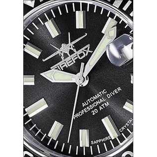 Firefox Watches  FIREFOX Automatik Taucheruhr Sea Commander Black 200 Meter
