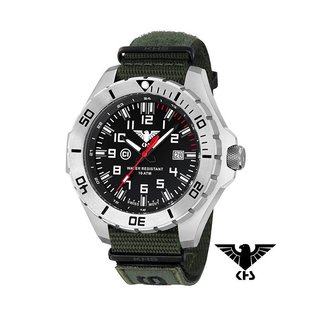 KHS Tactical Watches KHS Tactical Watches Landleader Steel Armyband XTAC Oliv | KHS.LANS.NXTO1