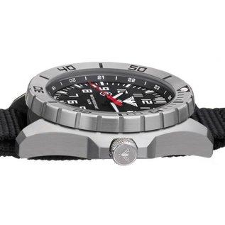 KHS Tactical Watches Landleader Steel mit G-Pad Lederarmband Black | KHS.LANS.R