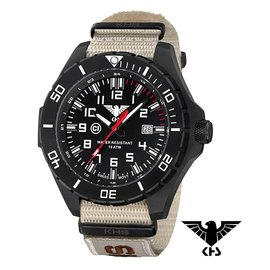 KHS Tactical Watches KHS Tactical Watches Landleader Black Steel Nato XTAC | KHS.LANBS.NXTLT5