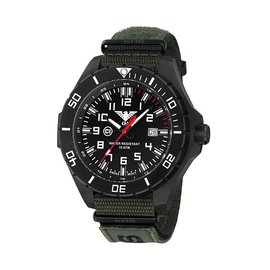 KHS Tactical Watches KHS Tactical Watches Landleader Black Steel Nato XTAC Green