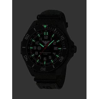 KHS Tactical Watches KHS Tactical Watches Landleader Black Steel Natoband XTAC Oliv | KHS.LANBS.NXTO1