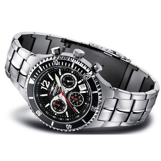 Firefox Watches  SILVER SURFER Firefoxuhr Pilot Watch Chronograph