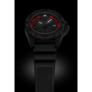 KHS Tactical Watches KHS Tactical Watches KHS Reaper XTAC mit schwarzen Diver Band, Red HALO H3 Leuchtsystem