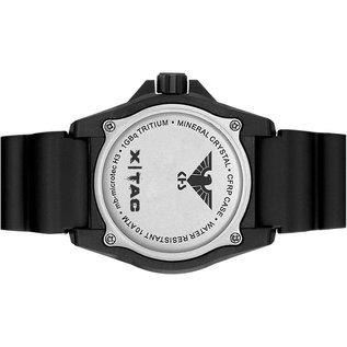 KHS Tactical Watches KHS Tactical Watches KHS Reaper XTAC mit schwarzen Silikon Band, Red HALO H3 Leuchtsystem | KHS.REXT.SB