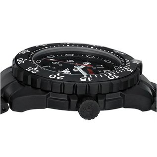 KHS Tactical Watches Militäruhr Enforcer Black Steel MK3 | Diverband Camouflage Black