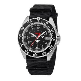 KHS Tactical Watches Military Watch Enforcer Steel | Military Bracelet Black