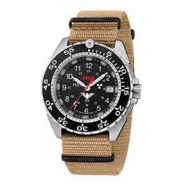 KHS Tactical Watches Military Watch Enforcer Steel | Military Bracelet Tan
