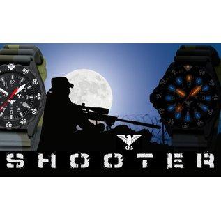 KHS Tactical Watches Shooter Einsatzuhr Militäruhr mit schwarzen Diverband