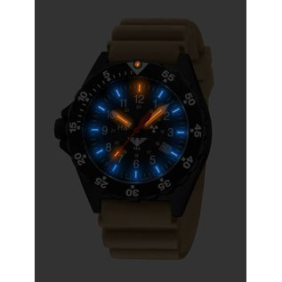 KHS Tactical Watches KHs Shooter H3 Military Watches with Diver Strap TAN