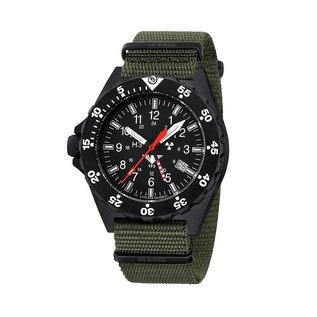 KHS Tactical Watches KHS Shooter GMT Natoarmband Oliv   KHS.SH.NO
