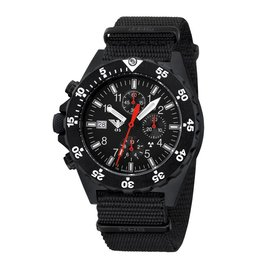 KHS Tactical Watches KHS Shooter  H3 Chronograph | Natoarmband Black