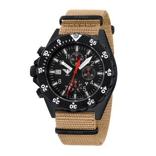 KHS Tactical Watches KHS Tactical Watches Shooter H3 Chronograph | NATO Strap Tan-Beige
