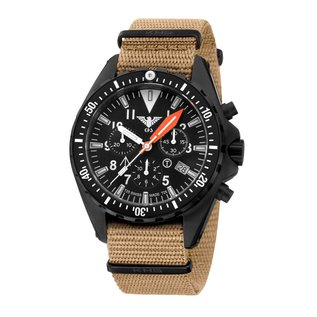 KHS Tactical Watches Missiontimer 3 Operation Timer Chronograph mit sandfarbigen Natoband