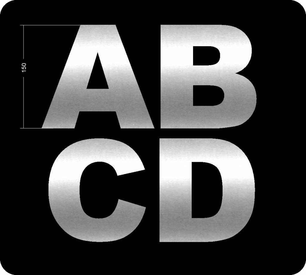 Letters ABCD 150mm