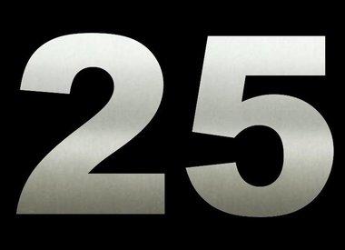 RVS Huisnummers 25 cm hoog OP=OP