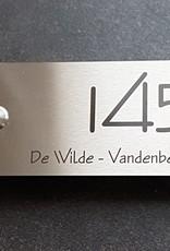 RVS Naamplaat + Beldrukker rvs 100x225mm