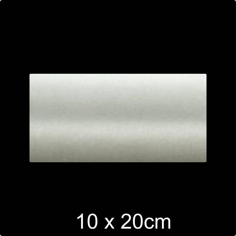 RVS 304 Naamplaat 10x20 cm INOX - Opruiming