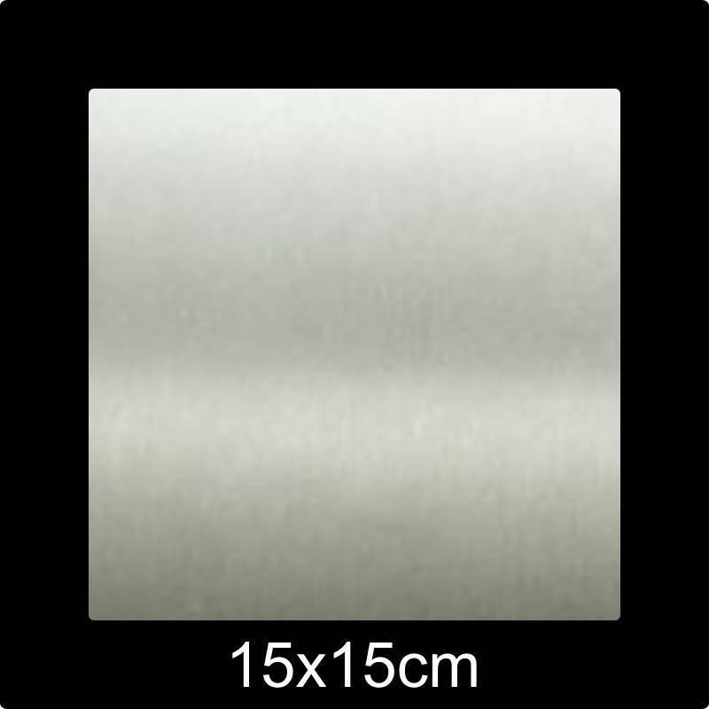 RVS Naamplaat 15x15 cm INOX - Opruiming