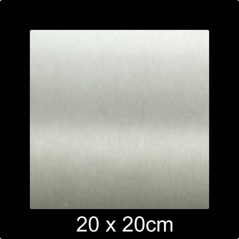 RVS 304 Naamplaat 20x20 cm INOX - Opruiming