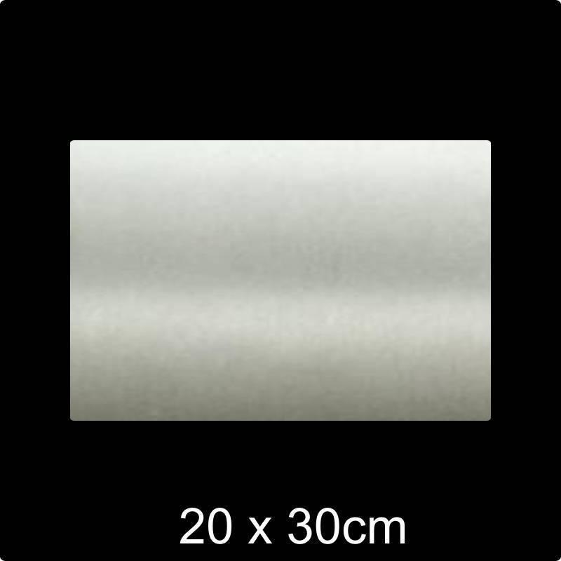 RVS 304 Naamplaat 20x30 cm INOX - opruiming