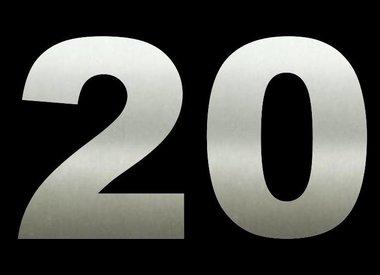 Nieuw Huisnummers 20 CM