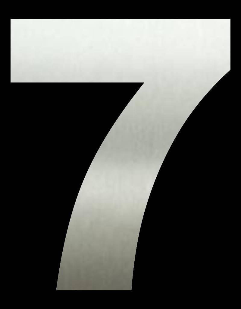 RVS Huisnummer 7 groot 20 cm