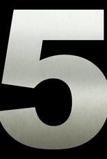 RVS Huisnummer 5 groot 30 cm
