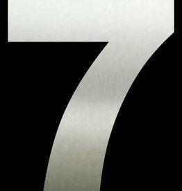 Huisnummer 7  RVS 50 cm groot