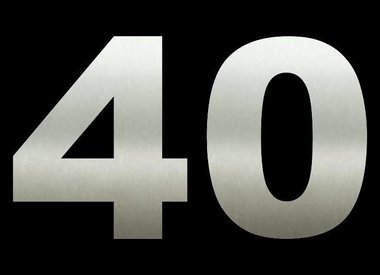 Huisnummers 40 cm hoog