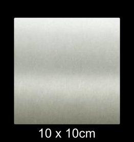RVS Naamplaat 10x10 cm