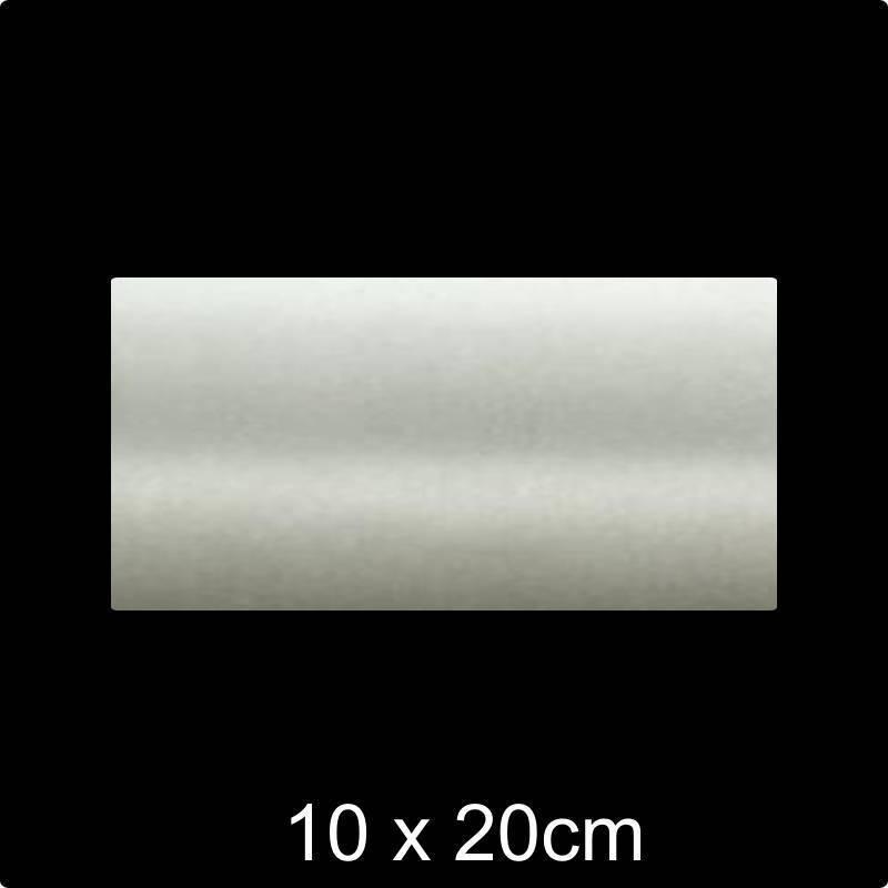 RVS Naamplaat 10x20 cm INOX