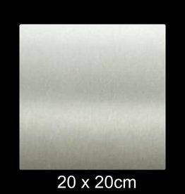 RVS Naamplaat 20x20 cm