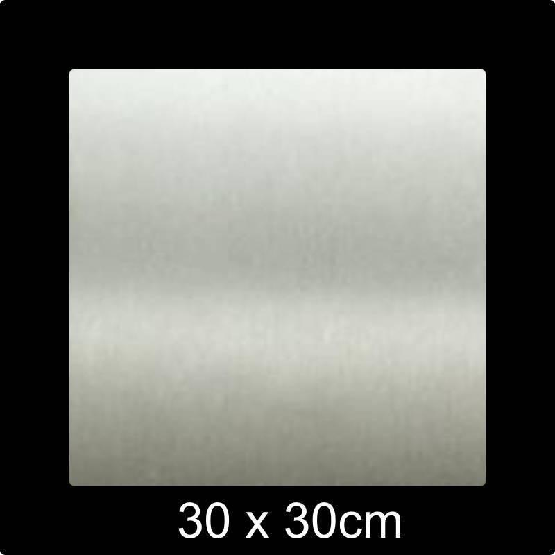 RVS 316 Naamplaat 30x30 cm INOX