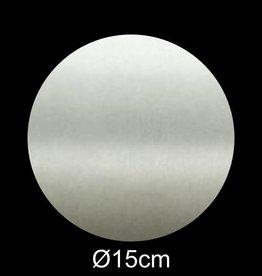 RVS Naamplaat rond diameter 15 cm