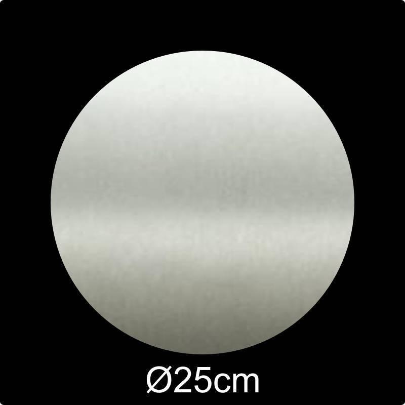 RVS Naamplaat rond diameter 25 cm INOX