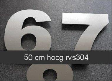 Huisnummers 50 cm